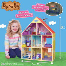 peppa pig wood peppa s wooden playhouse toyworld nz