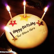 Birthday Cake With Name Candle cakes Birthday cake Collections with Name