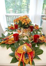 A Colorful Autumn Table Setting