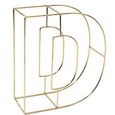 Soft Gold Wire Letter D 15Cm Hobbycraft