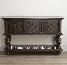 Classic Luxury Spanish Wooden Antique Finishing Dining Room Sideboard Console Table