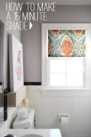 Yellow And Grey Bathroom Window Curtains by How To Make A Fifteen Minute Diy Window Shade Window Diy Window