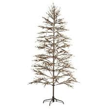 Charlie Brown Christmas Tree Home Depot by Home Decorators Collection 6 5 Ft Pre Lit Led Brown Winterberry