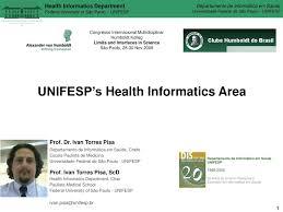 100 Ivan Torres PPT UNIFESPs Health Informatics Area Prof Dr