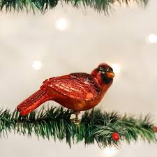 Resting Cardinal Ornament Old World Christmas Red Barn Company Store