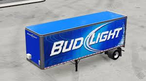 100 Bud Light Truck Skin Metal On The Trailer For American Simulator