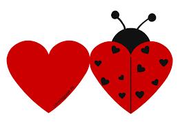 Printable Ladybug Valentine Cards