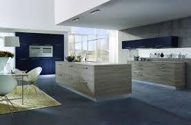 amazing modern spacious kitchen design decoration using blue