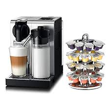 DeLonghi Nespresso Lattissima Pro Stainless Steel Capsule Espresso And Cappuccino Machine With Bonus 40 Carousel