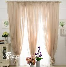 Country Style Living Room Curtains by Country Style Elegant Light Sheer Linen Curtains For Living Room