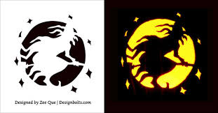 Wolf Pumpkin Carving Patterns Easy by 10 Free Scary Halloween Pumpkin Carving Patterns Stencils