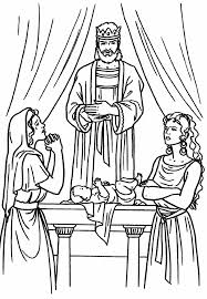 Bible King Coloring Pages Solomon Wisdom Page Large Size