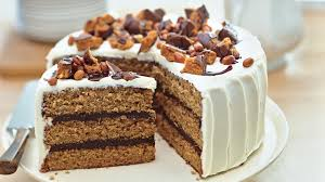 Chocolate Peanut Butter Cake with Cream Cheese and Butterfinger