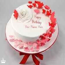 Write Name on Cake Butterflies Birthday Cake With Name