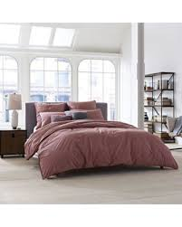 Kenneth Cole Reaction Bedding deals on kenneth cole new york escape full queen duvet cover in plum