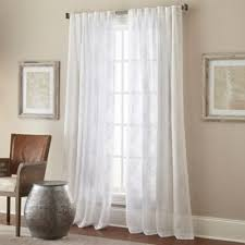 Bed Bath And Beyond Semi Sheer Curtains by Buy 63 Inch Sheer Curtain From Bed Bath U0026 Beyond