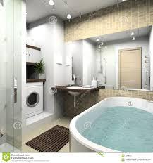 modernes badezimmer 3d übertragen stockbild bild
