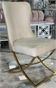 designer chesterfield esszimmer stühle in samt beige taupe