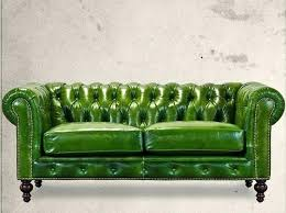 Light Olive Green Leather Sofa Chesterfield Sofas