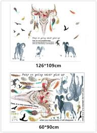 animals tiger wolf home room decor entfernbare wandaufkleber