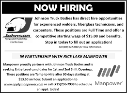 Employment Opportunities, Johnson Truck Bodies, Rice Lake, WI Ups Ground Making Hts Systems Pickup Hts10t Tilt Mount Ultra 2 Johnson Refrigerated Truck Bodies Item Db2722 Sold Body Reefer Cargo Box H7755 Feb Truck Bodies Delivery Bed Dz9450 Food Service Industry Lock N Roll Llc Hand October 2018 Rice City Found By Turns Out T Be 2010 Electri Max Refrigerator Bodies Only 145 Johnson Reefer Refrigerated Body For Sale Auction Or Lease Mh Eby Home