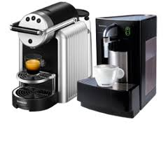 Black Zenius Commercial Coffee Machine With Cappuccinatore Milk Frother