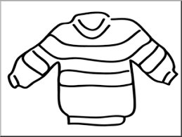 Clip Art Basic Words Sweater B&W Unlabeled I abcteach preview 1