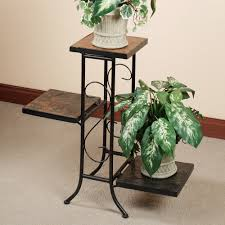 Full Size Of Patio Outdoor Porterville Plant Stand Black Powder Coated Finish Three Tier