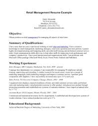 Resume Sample Retail Manager Examples Management Resumes Assistant Buyer Cover Letter