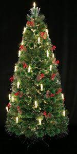 3 80th Century Noble Fir Pre Lit Fiber Optic Christmas Tree Decorated With Candle Light