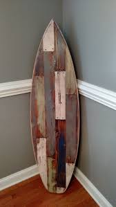 Decorative Surfboard Wall Art by Faux Pallet Wood Surfboard Wall Hanger Headboard 62 Inches