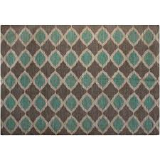 Walmart Outdoor Rugs 5 X 7 by Jute And Cotton Printed 5 U0027 X 7 U0027 Area Rug Turquoise And Taupe