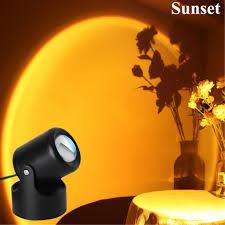 led sonnenuntergang regenbogen projektionslicht freistehende moderne le 180 grad drehung dekoratives nachtlicht usb romantische atmosphäre