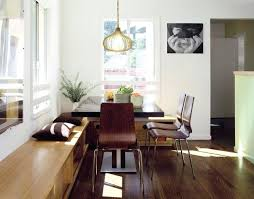 Modern Dining Table Bench Seat Avenue Residence Room