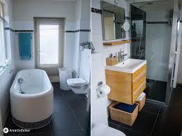 badezimmer schwarz weiss bambus kreativfieber