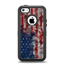 The Grungy American Flag Apple iPhone 5c Otterbox Defender Case