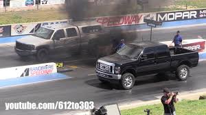 Truck Power Drag Racing, Ford Powerstroke Vs. Chevy Duramax