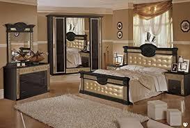 lignemeuble nachtschrank imperio schwarz und gold lackiert