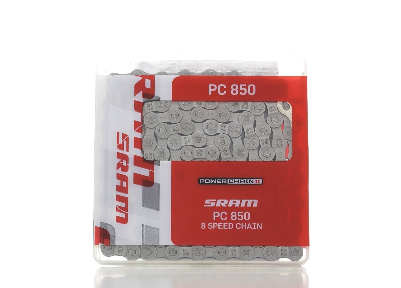 Sram PC 850 P-Link Bicycle Chain - 8 Speed, Grey