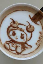 Anime Coffee Cappuccino Art Time Tea Latte Caffeine Addiction Design Chocolate