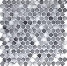 gray color 19mm ceramic mosaic tiles swimming pool tiles