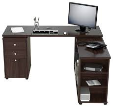 Realspace Magellan L Shaped Desk Dimensions by New Espresso Bow Front L Shape Desk Sk Office Furniture Intended