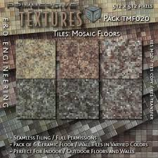 TMF020 6 512px Seamless Ceramic Mosaic Tile Texture Surfaces For Modern Floors And Walls By ED ENGINEERING