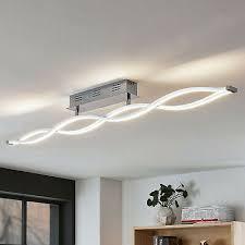 led deckenle roan wellenförmig wohnzimmer leuchte