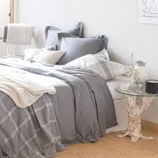 GREY FLANNEL BED LINEN