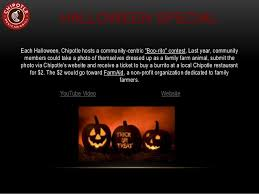 Chipotle Halloween Special 2015 by Chipotle Social Media Swot