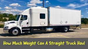 HOW MUCH WEIGHT CAN A STRAIGHT TRUCK HAUL - Trucking Blogs ...
