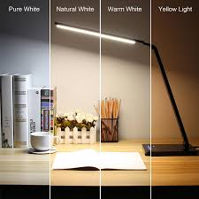 Office Depot Fluorescent Desk Lamp by Byb Metallic Dimmable Led Desk Lamp Eye Caring Table Lamp Slim
