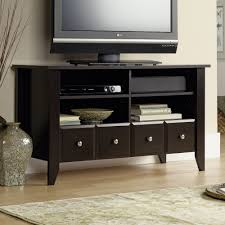 Sauder Shoal Creek Desk Jamocha Wood by Shoal Creek Panel Tv Stand