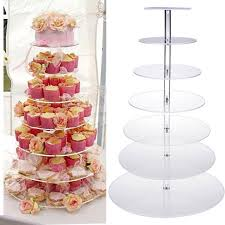 7 Tier Acrylic Round Cake Stand Cake Display Cupcake Tower for